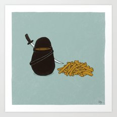 Potato Ninja Art Print