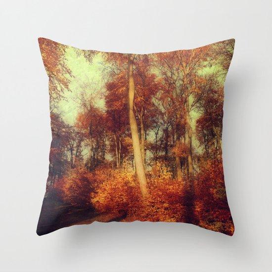 fall copper Throw Pillow