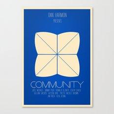 Community - Minimalist Movie Poster Canvas Print