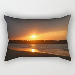 Sunset Over The Waterway Rectangular Pillow
