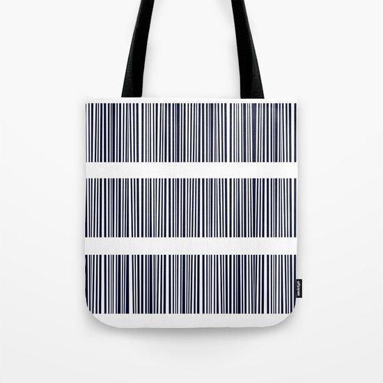 Blue- White- Stripe - Stripes - Marine - Maritime - Navy - Sea - Beach - Summer - Sailor 6 Tote Bag