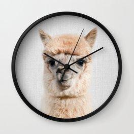 Alpaca - Colorful Wall Clock