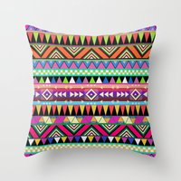 la Throw Pillows featuring OVERDOSE by Bianca Green