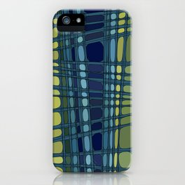 Robin in shades of blue and green iPhone Case