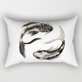 Yin Yang Koi Rectangular Pillow