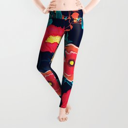 Butterflies and Spring Flowers I Leggings