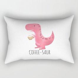 Coffee-saur | Pink Rectangular Pillow