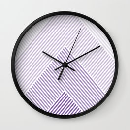 Shades of Purple Abstract geometric pattern Wall Clock