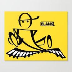 BLANKM GEAR - PIANOMAN T SHIRT Canvas Print