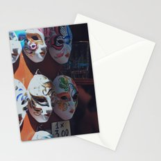 Venetian masks Stationery Cards