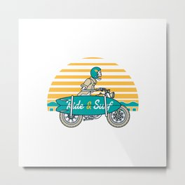 Ride and Surf Metal Print
