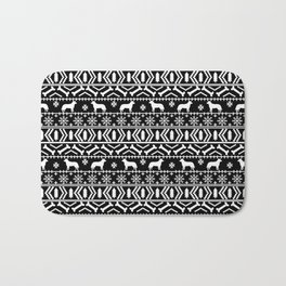 Australian Cattle Dog christmas fair isle pattern pet portrait holiday designs for dog lover Bath Mat
