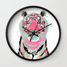 Pink Tiger Collage Wall Clock