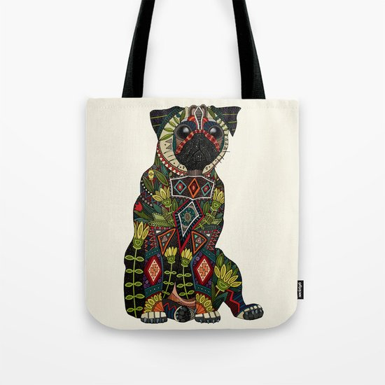 pug love ivory Tote Bag
