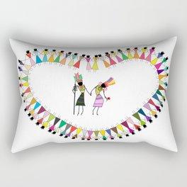 Saura Tribal Art Rectangular Pillow