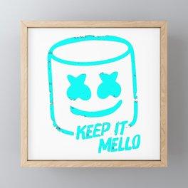 Marshmello - Keep It Mello Light Blue Framed Mini Art Print