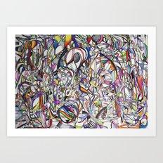 Chromatic Collisions Art Print