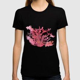Aloha Pink Coral Watercolor Art T-shirt