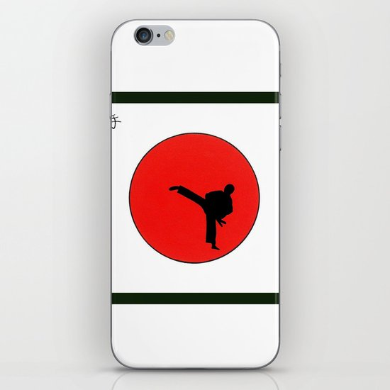 Art Of Karate Print iPhone & iPod Skin