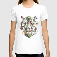 T-shirts featuring Tropical tiger by Robert Farkas