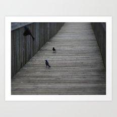 Black Birds Art Print