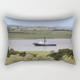 Tug Motoring Down the Tamar* Rectangular Pillow