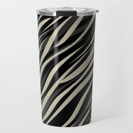 Tiger abstract striped pattern . Travel Mug