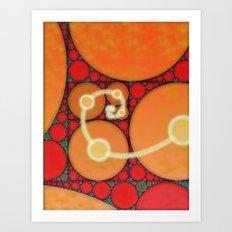 Fibonacci Spiral Fractal Art Print