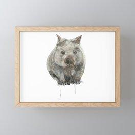 Wombat watercolour Framed Mini Art Print
