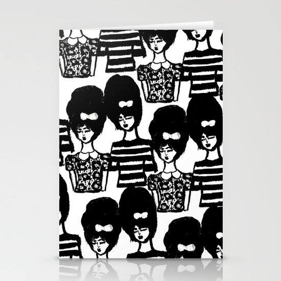 Bouffant Girls Stationery Cards