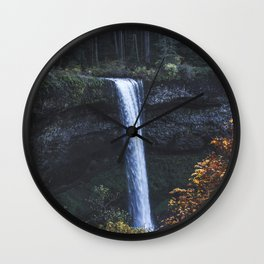 Evening Silver Wall Clock