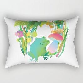 children's illustration. Frog in the grass Rectangular Pillow