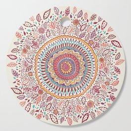 Sunflower Mandala Cutting Board