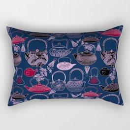 Vintage Japanese Tea Pots Rectangular Pillow