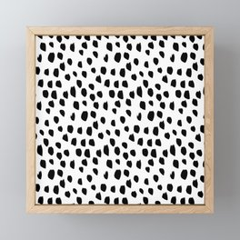 Hand drawn drops and dots on white - Mix & Match with Simplicty of life Framed Mini Art Print