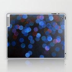 No. 45 - Print of Deep Blue Bokeh Inspired Modern Abstract Painting  Laptop & iPad Skin