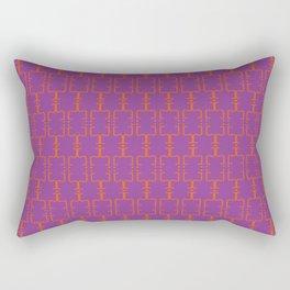 Retro african spring / The J pattern 1 / 90s Rectangular Pillow