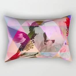 Geometric, pastel, bird print Rectangular Pillow