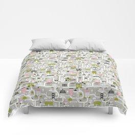 City map Comforters