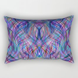Abstract painting color texture Rectangular Pillow