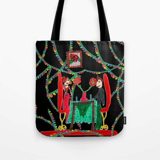 Christmas Dinner | Kids Painting Tote Bag