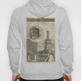 Construction of The Statue of Liberty Illustration Hoody