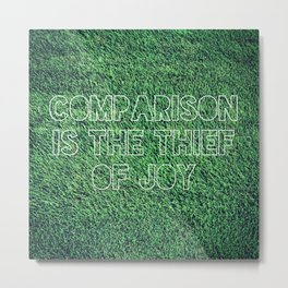 The Grass is Greener in Your Yard Metal Print