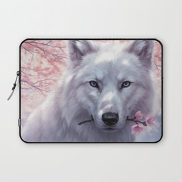 White and Pink Laptop Sleeve