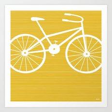 Yellow Bike by Friztin Art Print