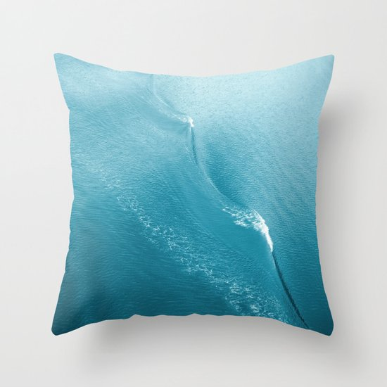 Ripple in Time (aqua) Throw Pillow