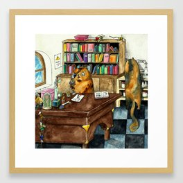 Cat laboratory Framed Art Print