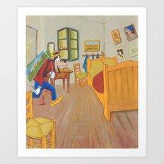 Goofy as Vincent Art Print