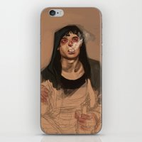 grantaire iPhone & iPod Skins featuring Decadency by Marta Milczarek