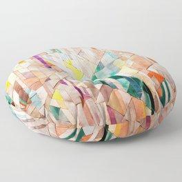 Pastel Tile Mosiac 1 Floor Pillow